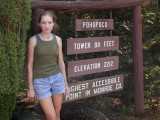 Highest accessible point in Monroe County.