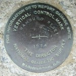 NGS Vertical Control Mark HAMBURG RESET 1974