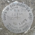 Army Corps of Engineers Elevation Mark 22+96