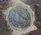 Close-up of the station mark.