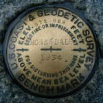 NGS Bench Mark Disk HONESDALE