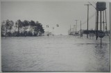 The tower during the Flood of '62, seen from the intersection of Delaware Routes 14 (now 1) and 26 in Bethany Beach.