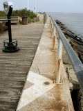 A little observation deck has been built adjacent to this part of the seawall.
