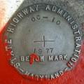 MDDOT Bench Mark Disk OC 10