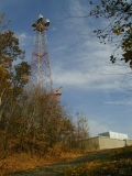 Microwave tower at American Tower facility.