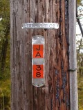Utility pole identification number.