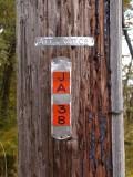 Utility pole identification number.