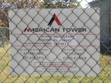 """American Tower"" sign on the perimeter fence."