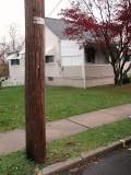 Facing NE and No. 204 E. Lehigh Street. Shown is powerline pole 16484/52047/24700.