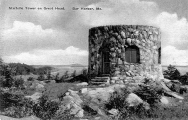 The stone tower in a vintage postcard