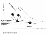 This diagram from the datasheet shows both trails visible in the previous photo. We approached on the so-called dirt trail, though both trails looked similarly rocky to me.