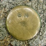 Bench Mark Disk BM (Unstamped, Wild Gardens of Acadia)