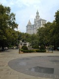 A view from nearby City Hall Park.
