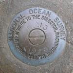 National Ocean Survey Tidal Benchmark 841 3320 TIDAL 13