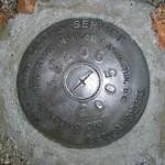 National Ocean Survey Tidal Benchmark 841 3320 TIDAL B
