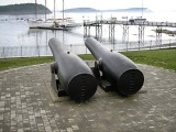 The cannons point out to sea!