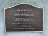 Closeup of the Old Mine Road historical plaque.