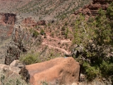 Looking NNE toward the Bright Angel Trail.