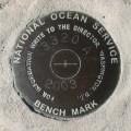 National Ocean Survey Tidal Benchmark 841 3320 TIDAL A