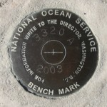 National Ocean Survey Tidal Benchmark 841 3320 TIDAL A
