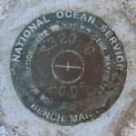 National Ocean Survey Tidal Benchmark 841 3320 TIDAL C