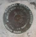 National Ocean Survey Tidal Benchmark 841 3320 TIDAL F