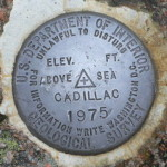 USGS Electronic Traverse Station Disk CADILLAC