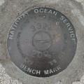 National Ocean Survey Tidal Benchmark 841 3320 TIDAL E