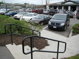 Looking NNW toward the parking area, where the moose-mobile is parked.