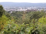 Overlooking the city of Scranton on a typically hazy late August evening.