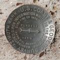 USGS Azimuth Mark Disk FLATTOP AZ MK