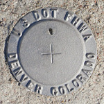 U. S. DOT Survey Mark FHWA (Unstamped)