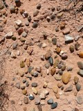 Jewel-like stones of all colors covered the clay soil in this area.