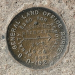 U.S. General Land Office Reference Mark Disk FOUR CORNERS=GLO STA 1 RM 2
