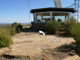 View of the mark (indicated) in proximity to the fire lookout station.