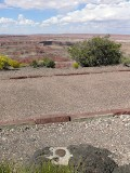 Walkway down to the Kachina Point Overlook, and the Painted Desert beyond.