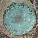 USGS Transit Traverse Station Disk TT 24 A USGS 1942