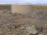 Looking downhill—southwest—toward N. Korsten's Ranch Road and one of the municipal water tanks.