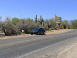 The mark is across the road from Saguaro Corners, a bar & grill