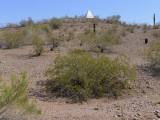 View approaching the tomb from Papago Park