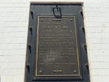 Commemorative plaque on the tomb