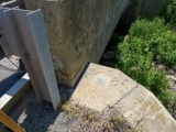 Eyelevel view of the disk on the bridge wingwall