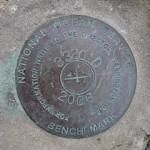 NOS Tidal Bench Mark Disk 841 3320 TIDAL D