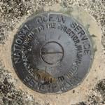 NOS Tidal Bench Mark Disk 841 4721 A TIDAL