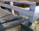 This is an older bridge and may soon be replaced.