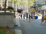 Looking NNE toward intersection of 5th Avenue and E. 42nd Street.