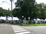 Some of the vendors at the Montrose Blueberry Festival, held each year on the village green adjacent to the courthouse.