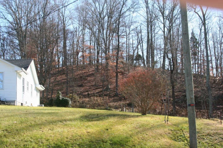 Another view of the hill where Beacon 25 was located. View is looking southeast from Shipley Ferry road.