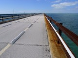 Looking W along Old Seven Mile Bridge
