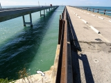 Looking W along Old Seven Mile Bridge.
